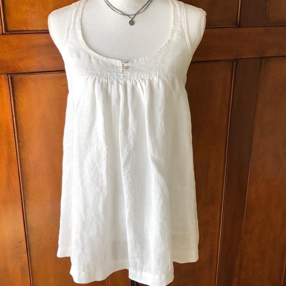 e4dbfa4a1a Zara White Linen Top. M 5a6b9d4550687c82abb23df3